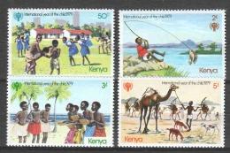 Kenya 1979 Mi 135-138 MNH UNICEF CHILDREN