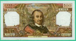 100  Francs - Corneille   -  France - N°Y.1213 94957 - V.5-10-1978.V.   -  TTB- - 1962-1997 ''Francs''