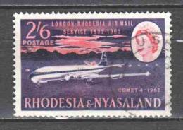 Rhodesia & Nyasaland 1962 Mi 44 AIRPLANE - Rhodesia & Nyasaland (1954-1963)