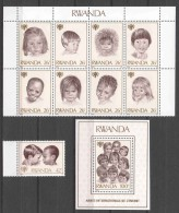 Rwanda 1979 Mi 992-1000 + Block 86 MNH CHILDREN UNICEF