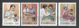 Zambia 1988 Mi 448-451 MNH UNICEF