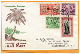 Niue 1946 FDC Mailed