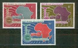 Carte De L'Afrique - RUANDA - Union Africaine Et Malgache Des Postes Et Télécommunications - N° 1 à 3 ** - 1967 - Poste Aérienne