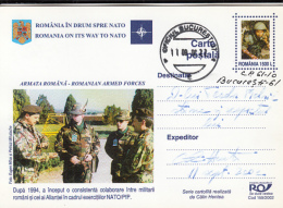 NATO, ROMANIA MEMBERSHIP, SOLDIERS, PC STATIONERY, ENTIER POSTAL, 2002, ROMANIA