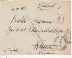 WAR CORRESPONDENCE, COVER SENT FROM ITALY TO GERMANY, CENSORED, 1946, ITALY - 5. 1944-46 Lieutenance & Umberto II