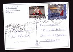 "FINLANDE Oblitération De Noël 2015 De Napapuri Et 66°33'7"" North"