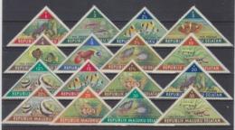 Moluques Du Sud,  État Non Reconnu Créé En 1950 Dans L'archipel Indonésien. Poissons - Vignettes, Série Complète. - Fische