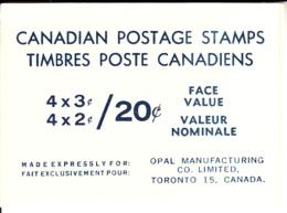 Canada Booklet 1970 #BK63a Elizabeth II Centennial Issue - Full Booklets