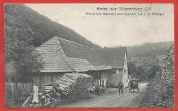 68 - GRUSS Aus WASSERBURG - WASSERBOURG - Wirtschaft - Bäckerei - Spezerei - J. B. FILLINGER - Facteur - Non Classés