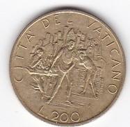 CITTA DEL VATICANO LIRE 200 GIOVANNI PAOLO II°  ANNO 1989  Spl - Vaticano (Ciudad Del)