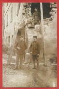68 - Carte Photo Guerre 14/18 - Soldats Allemands - HARTMANNSWEILERKOPF - Maison à SOULTZ - 4 Scans - Frankrijk