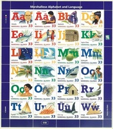 Marshall Islands 1998 Alphabet Sheet Of 24  MNH**  2016 Scott Value $16 - Islas Marshall