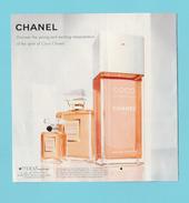 Cartes Parfumées Carte CHANEL COCO MADEMOISELLE De CHANEL A RABAT  RECTO VERSO AMÉRICAINE N°2 - Cartes Parfumées