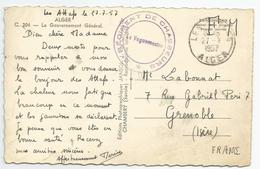 Marcophilie - Alger Cachet 8 E Régiment De Chasseurs 1957 En Fm Algérie - Marcophilie (Lettres)