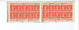 CARNET PUB  194 C3 C 3  20 TIMBRES SEMEUSE 40 C GIBBS  MAISONS DONY S 106 - Booklets
