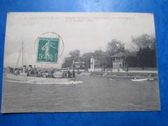 """LOIRE ATLANTIQUE  44  LE  POULIGUEN  - DEPART DU CONTRE -TORPILLEUR  """" LE GRONDEUR """" LE 8 OCTOBRE 1908     ANIME     TTB - Le Pouliguen"""
