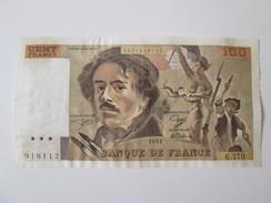 France 100 Francs 1991 - 100 F 1978-1995 ''Delacroix''