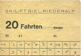 Schweiz - Skilift Biel Riederalp - Bahn
