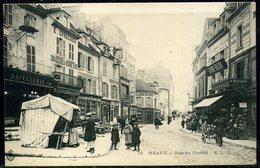 Cpa  Meaux  Le Grand Bazar Rue De Marché,   Animée - Meaux