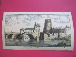 Nantes - Tour Et Pont De Pirmil - Gravure Colorisée De Dinan - Bon état - Scans Recto-verso - Estampes & Gravures