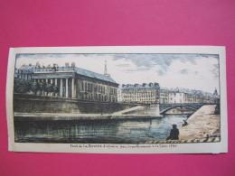 Nantes - Pont De La Bourse Disparu Par Comblement De La Loire 1931- Gravure Colorisée De Dinan - Bon état - Recto-verso - Estampes & Gravures