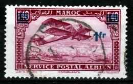 French Morocco, Plane Flying Over Casablanca, Overprint 1f/1f40, 1931, VFU - Morocco (1891-1956)