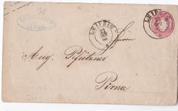 German States Saxony 1896? Postal Stationery Letter Cover Leipzig To Pirna B*170115 - Saxony