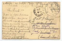 Marcophilie - Pujo - 65 - Intérieur De L'église Cachet 22 E Section De Coma Détachement De Vanves Réexpédié 20/07/1940 - Marcophilie (Lettres)