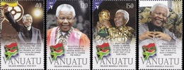 Vanuatu 2014, 1st Anniversary Of The Death Of Nelson Mandela, Football World Cup, 4val