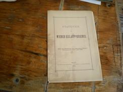 Wien  Statuten Des Wiener Eislauf Vereines  1879 - Bücher, Zeitschriften, Comics