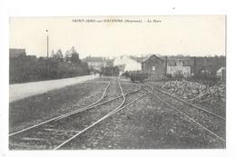 SAINT-JEAN-sur-MAYENNE  (cpa 77)   La Gare -  L 3 - France