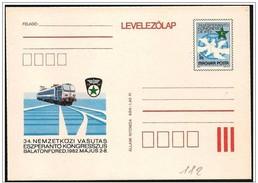 Ungheria/Hongrie/Hungary: Intero, Stationery, Entier, Treno, Train, Esperanto, Espéranto - Esperanto