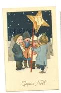 Joyeux Noël. Petite Chorale D'enfants Qui Chantent Dans La Neige. Etoile - Non Classés
