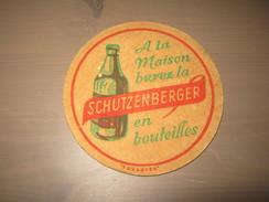 Ancien Sous Bock Biere Schutzenberger - Sous-bocks