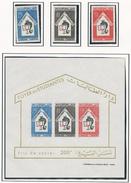 TUNISIE Scott 451-453, 453a Yvert 592-594, BF1 (3+bloc) ** Cote 7,00$ 1965 - Tunisie (1956-...)