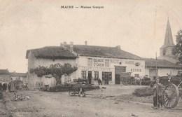 MAIXE - LA MAISON GAUCON - BOULANGERIE-CAFE DE LA LIBERTE-HALTE MARINE-ECURIE - BELLE CARTE ANIMEE - ATTELAGES - TOP !!! - Frankrijk