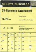 Schweiz - Skilifte Rüschegg - Abonnement - Bahn