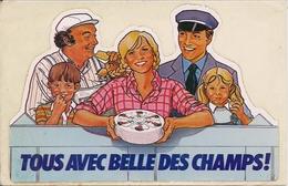 Autocollant  -   Tous Avec BELLE DES CHAMPS  (fromage) - Aufkleber