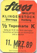 Schweiz - Stoos - Skilifte Klingenstock - Sternegg Holibrig 1989 - Bahn