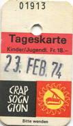 Schweiz - Crap Sogn Gion - Bergbahnen Und Skilifte Im Nagiensgebiet 1974 - Kinderkarte - Bahn