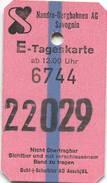 Schweiz - Nandro Bergbahnen Savognin AG - Tageskarte - Bahn