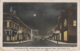 Luna Moonlight AK Eau Clair South Barstow St Street North From Masonic Bldg Building Wisconsin WI United States USA - Eau Claire