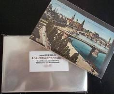 Ansichtskarten Hüllen Nr.1 Für Alte AK 96x148 Mm 100 Stück Glasklar & Weichmacherfrei Profiqualität - Zubehör