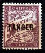 French Morocco, Postage Due, 50c., Overprint TANGER, 1918, MNH VF - Morocco (1891-1956)