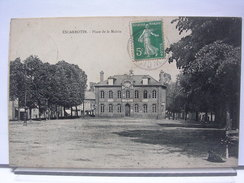 80 - ESCARBOTIN - PLACE DE LA MAIRIE - 1908 - Other Municipalities
