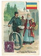 Chromo Machines à Coudre Stoewer - La Poste En Roumanie ( Postier, Vélo ) - Autres