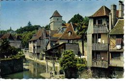 64 Salies De Béarn N°1727 Le Saleys Et Les Vieilles Maisons En 1965 Enfants à La Pêche - Salies De Bearn