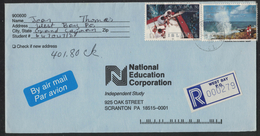 CA29     Cayman Islands 1995 West Bay Registered Cover - Sportfishing - Blowholes - Cayman (Isole)