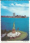 Statue Of Liberty,New York City,United States Via Macedonia AIR MAIL Postcard.nice Stamp - Freiheitsstatue