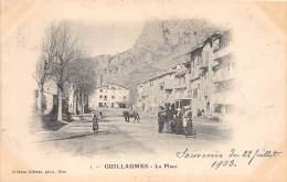 06 - ALPES MARITIMES / Guillaumes - La Place -  Beau Cliché Précurseur - France